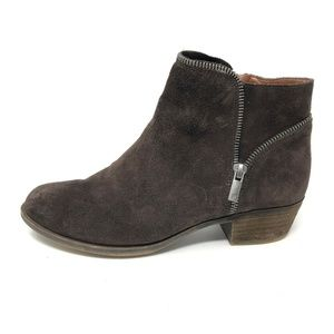 Lucky Brand BOIDE Ankle Boots Brown Suede 7.5
